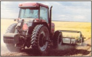 The front tractor weights can be transferred to the rear 3 points to distribute weight evenly throughout the entire tractor.